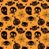 Pomarańcze halloweenowy Wzór Obraz Royalty Free