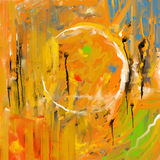 Pomarańczowa brushstrokes abstrakcja Obraz Royalty Free