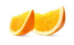 pomarańczowy tło biel Zdjęcia Royalty Free