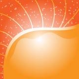 Pomarańczowy tło z małymi kropkami Fotografia Royalty Free
