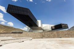 POMASQUI, ECUADOR - APRIL 15: De bouw UNASUR, Unie van Zuiden A Royalty-vrije Stock Afbeeldingen