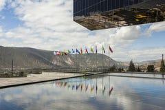 POMASQUI, ECUADOR - APRIL 15: De bouw UNASUR, Unie van Zuiden A Stock Fotografie