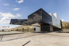 POMASQUI, ECUADOR - APRIL 15: De bouw UNASUR, Unie van Zuiden A Royalty-vrije Stock Fotografie