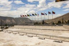 POMASQUI, ECUADOR - APRIL 15: De bouw UNASUR, Unie van Zuiden A Stock Foto's