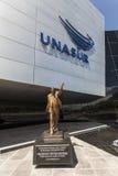 POMASQUI, ECUADOR - 15 DE ABRIL: Edificio UNASUR, unión del sur A Foto de archivo