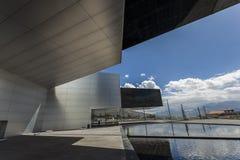 POMASQUI, EQUADOR - 15 DE ABRIL: Construção UNASUR, união do sul A Fotos de Stock Royalty Free