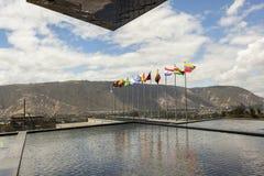 POMASQUI, EQUADOR - 15 DE ABRIL: Construção UNASUR, união do sul A Foto de Stock