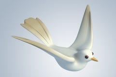 pomba branca do pombo 3D Imagem de Stock