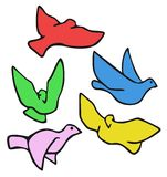 Pomba colorida Imagens de Stock Royalty Free