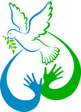 Pomba da paz Imagens de Stock Royalty Free
