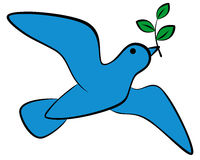 Pomba do ícone da ilustração do vetor da paz Fotografia de Stock Royalty Free