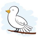 Pomba do branco ilustração stock