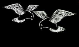 Pomba do branco ilustração royalty free
