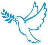 Pomba do vetor da paz Foto de Stock