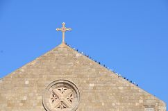 Pombas da igreja Imagens de Stock Royalty Free