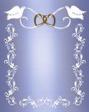Pombas do branco do convite do casamento Imagens de Stock Royalty Free
