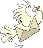 Pombo do correio Fotografia de Stock