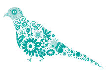 Pombo floral Imagens de Stock