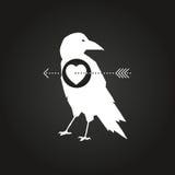 Pombos e pombas ajustados no estilo do origâmi Foto de Stock Royalty Free