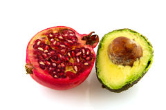 Pome Granate and avocado Stock Image
