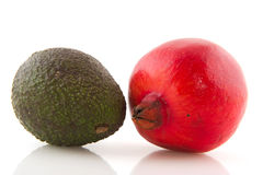 Pome Granate and avocado Royalty Free Stock Image