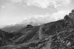 Pomedes Rigugio на tofana в доломитах стоковые изображения rf