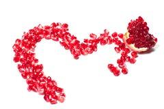 Pomegrana en forma de corazón Fotografía de archivo libre de regalías
