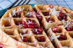 Pomegranat椰子奶蛋烘饼 库存图片