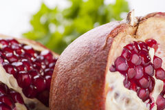 Pomegranat close-up Stock Photos