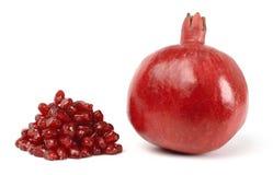 pomegranate вороха осеменяет одиночную Стоковые Фото