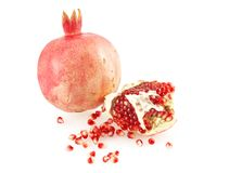 pomegranate зерен разбросал стоковая фотография rf