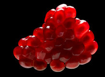 pomegranate изолированный чернотой зрелый Стоковая Фотография RF