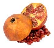 Pomegranate на белизне Стоковое Изображение