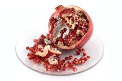pomegranate плиты Стоковые Фотографии RF