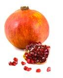 pomegranate плодоовощ показывая ся женщину Стоковая Фотография RF