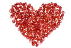 pomegranate сердца Стоковая Фотография RF