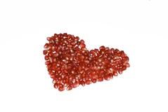 pomegranate сердца Стоковое Изображение RF
