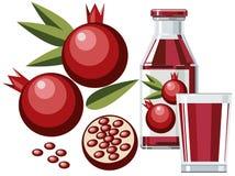 pomegranate сока Стоковое Фото