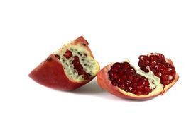 Pomegranate. Isolated on the white Stock Photography
