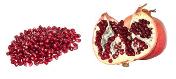 Pomegranate. Isolated on a white background Royalty Free Stock Image