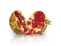 Pomegranate. Isolated on white backgroud Royalty Free Stock Images