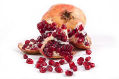 Pomegranate. Object on a white background Royalty Free Stock Photos