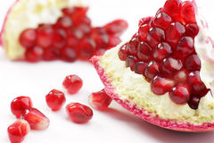 Pomegranate. On white background (close-up Stock Image
