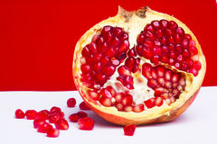 Pomegranate. Juicy ripe pomegranate useful to health Stock Photos
