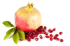 Pomegranate. Isolated on white background Royalty Free Stock Photography