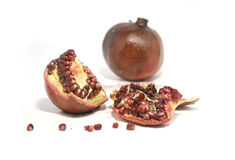 Pomegranate. A pomegranate and ripe berries of a pomegranate Royalty Free Stock Photography