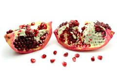 Pomegranate. Isolated on white background royalty free stock image
