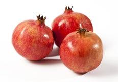 Pomegranate. Three Pomegranate isolated on a white background stock illustration