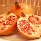 Pomegranate. Red pomegranate, Jewish new year symbol royalty free stock images