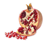 Pomegranate. Seeds over white background Stock Photography